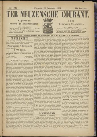 Ter Neuzensche Courant. Algemeen Nieuws- en Advertentieblad voor Zeeuwsch-Vlaanderen / Neuzensche Courant ... (idem) / (Algemeen) nieuws en advertentieblad voor Zeeuwsch-Vlaanderen 1881-12-28