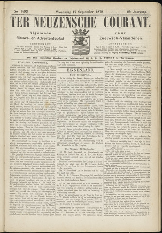 Ter Neuzensche Courant. Algemeen Nieuws- en Advertentieblad voor Zeeuwsch-Vlaanderen / Neuzensche Courant ... (idem) / (Algemeen) nieuws en advertentieblad voor Zeeuwsch-Vlaanderen 1879-09-17