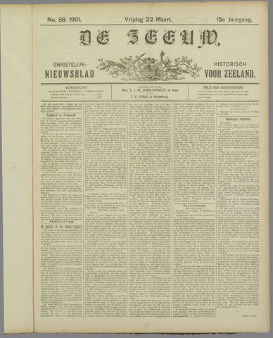 De Zeeuw. Christelijk-historisch nieuwsblad voor Zeeland 1901-03-22