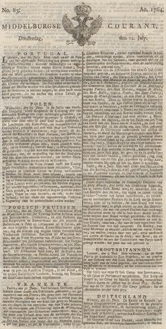 Middelburgsche Courant 1764-07-12