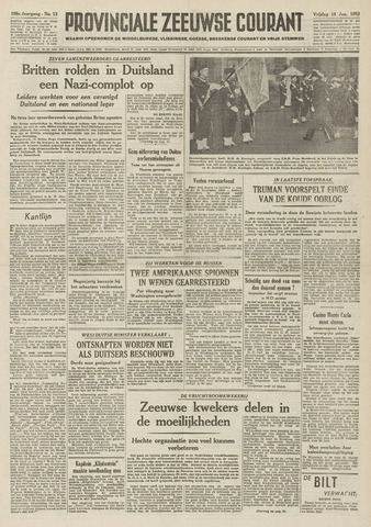 Provinciale Zeeuwse Courant 1953-01-16