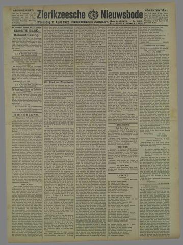 Zierikzeesche Nieuwsbode 1923-04-11