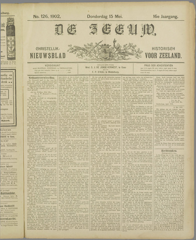 De Zeeuw. Christelijk-historisch nieuwsblad voor Zeeland 1902-05-15
