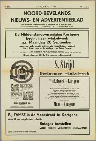 Noord-Bevelands Nieuws- en advertentieblad 1953-09-26