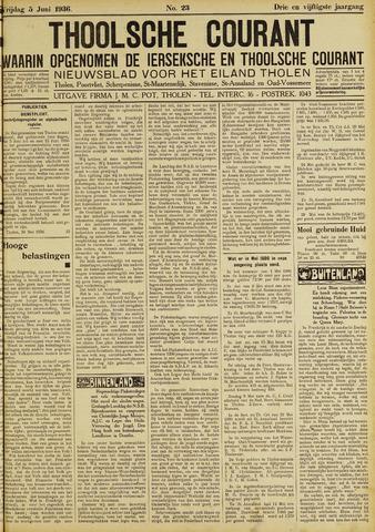 Ierseksche en Thoolsche Courant 1936-06-05