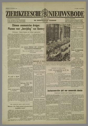 Zierikzeesche Nieuwsbode 1958-08-29