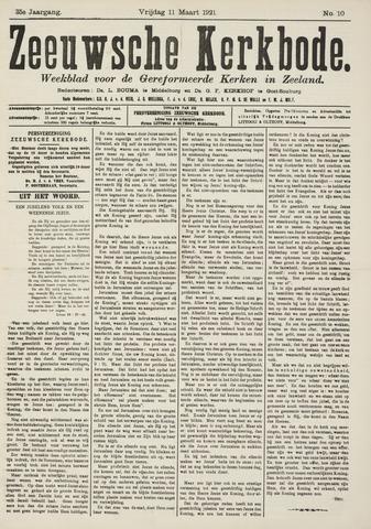 Zeeuwsche kerkbode, weekblad gewijd aan de belangen der gereformeerde kerken/ Zeeuwsch kerkblad 1921-03-11
