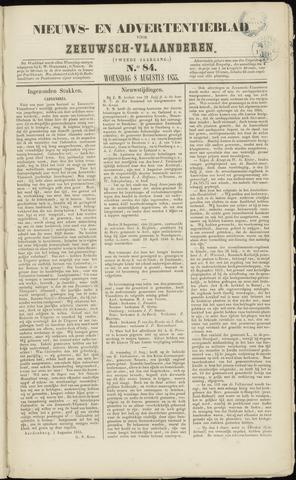 Ter Neuzensche Courant. Algemeen Nieuws- en Advertentieblad voor Zeeuwsch-Vlaanderen / Neuzensche Courant ... (idem) / (Algemeen) nieuws en advertentieblad voor Zeeuwsch-Vlaanderen 1855-08-08