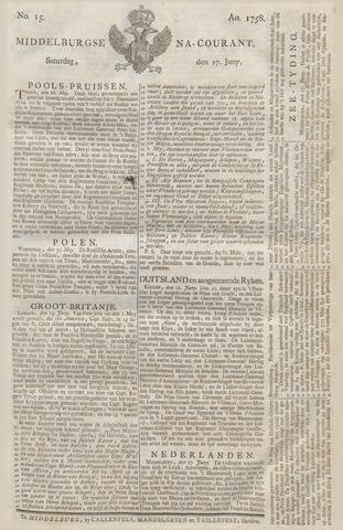 Middelburgsche Courant 1758-06-17