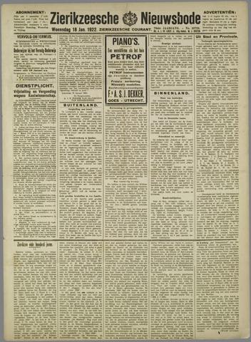 Zierikzeesche Nieuwsbode 1922-01-18