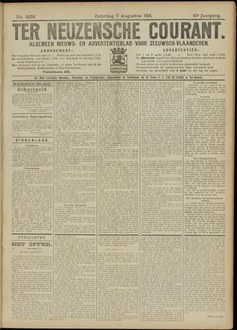 Ter Neuzensche Courant. Algemeen Nieuws- en Advertentieblad voor Zeeuwsch-Vlaanderen / Neuzensche Courant ... (idem) / (Algemeen) nieuws en advertentieblad voor Zeeuwsch-Vlaanderen 1915-08-07