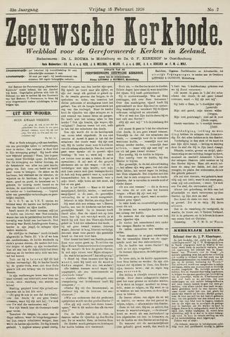 Zeeuwsche kerkbode, weekblad gewijd aan de belangen der gereformeerde kerken/ Zeeuwsch kerkblad 1918-02-15