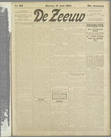 De Zeeuw. Christelijk-historisch nieuwsblad voor Zeeland 1924-06-17