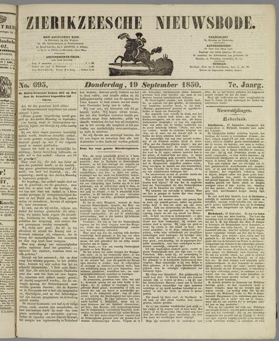Zierikzeesche Nieuwsbode 1850-09-19