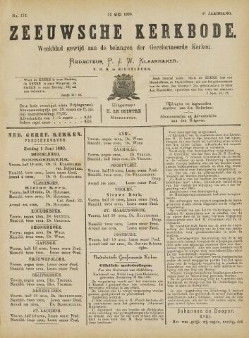 Zeeuwsche kerkbode, weekblad gewijd aan de belangen der gereformeerde kerken/ Zeeuwsch kerkblad 1890-05-31