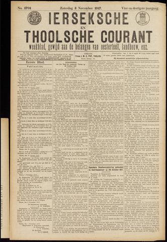 Ierseksche en Thoolsche Courant 1917-11-03