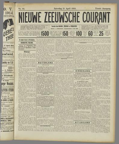 Nieuwe Zeeuwsche Courant 1914-04-11
