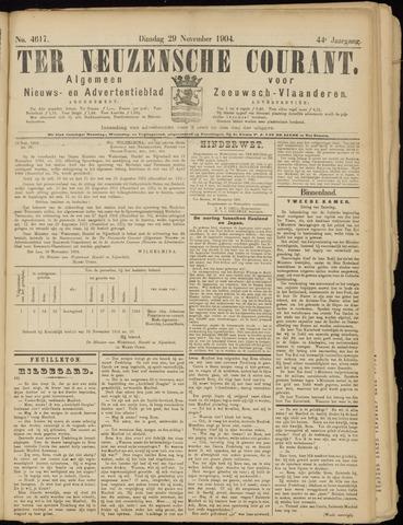 Ter Neuzensche Courant. Algemeen Nieuws- en Advertentieblad voor Zeeuwsch-Vlaanderen / Neuzensche Courant ... (idem) / (Algemeen) nieuws en advertentieblad voor Zeeuwsch-Vlaanderen 1904-11-29