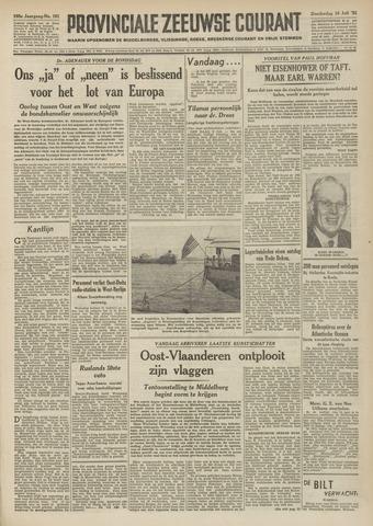 Provinciale Zeeuwse Courant 1952-07-10
