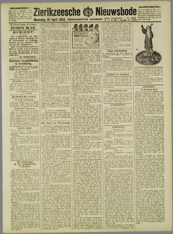 Zierikzeesche Nieuwsbode 1924-04-14