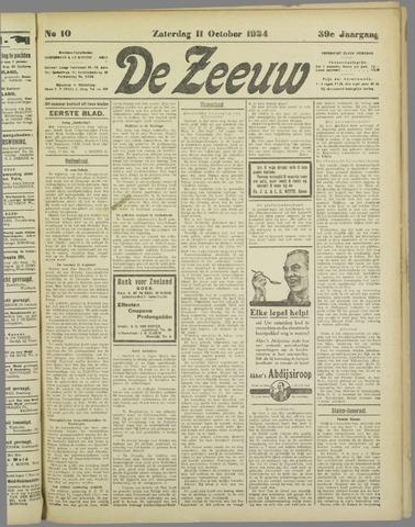 De Zeeuw. Christelijk-historisch nieuwsblad voor Zeeland 1924-10-11