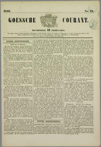 Goessche Courant 1852-02-12