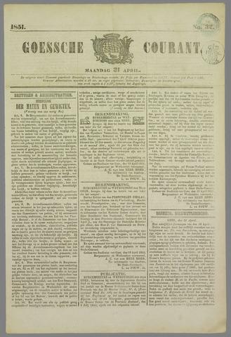 Goessche Courant 1851-04-21