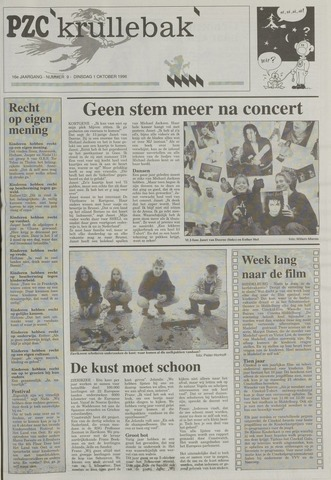 Provinciale Zeeuwse Courant katern Krullenbak (1981-1999) 1996-10-01