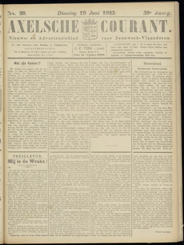 Axelsche Courant 1923-06-19