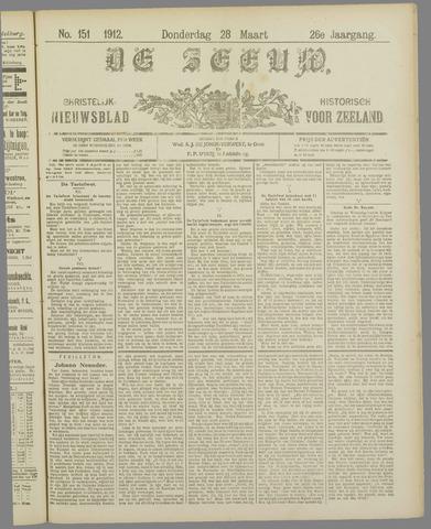 De Zeeuw. Christelijk-historisch nieuwsblad voor Zeeland 1912-03-28
