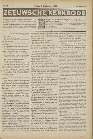 Zeeuwsche kerkbode, weekblad gewijd aan de belangen der gereformeerde kerken/ Zeeuwsch kerkblad 1945-09-07