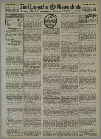 Zierikzeesche Nieuwsbode 1930-01-27