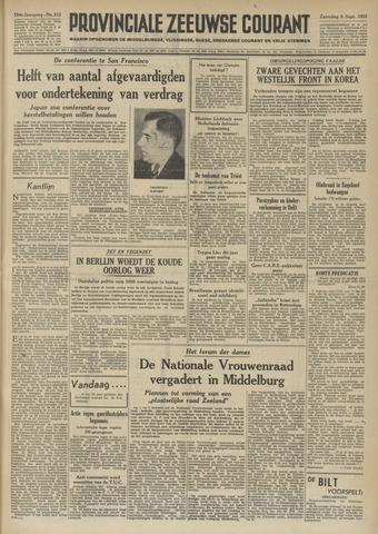 Provinciale Zeeuwse Courant 1951-09-08