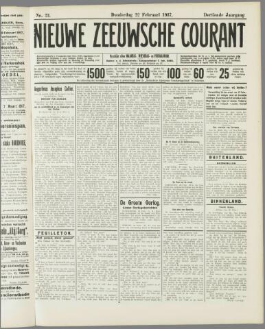 Nieuwe Zeeuwsche Courant 1917-02-22