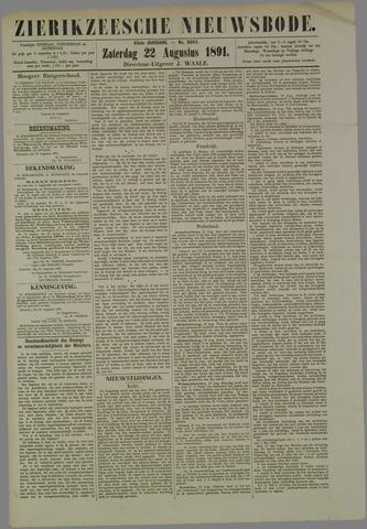Zierikzeesche Nieuwsbode 1891-08-22