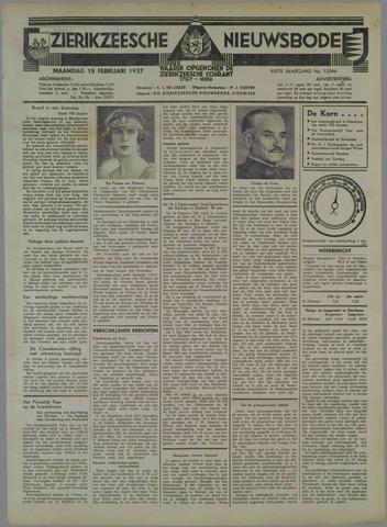 Zierikzeesche Nieuwsbode 1937-02-15