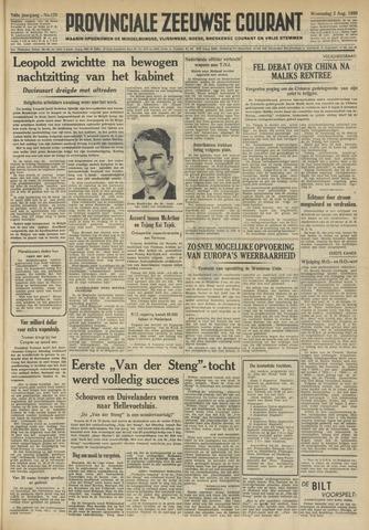 Provinciale Zeeuwse Courant 1950-08-02