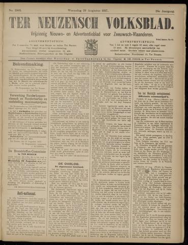 Ter Neuzensch Volksblad. Vrijzinnig nieuws- en advertentieblad voor Zeeuwsch- Vlaanderen / Zeeuwsch Nieuwsblad. Nieuws- en advertentieblad voor Zeeland 1917-08-29