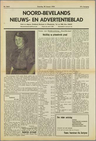 Noord-Bevelands Nieuws- en advertentieblad 1954-01-30