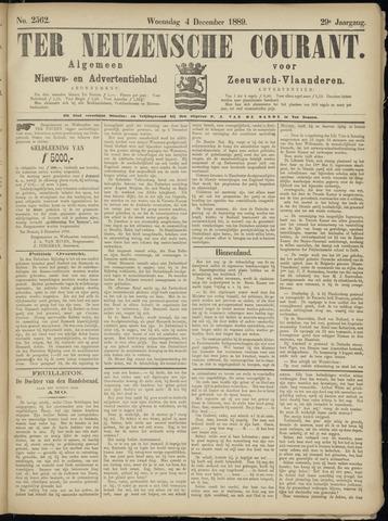 Ter Neuzensche Courant. Algemeen Nieuws- en Advertentieblad voor Zeeuwsch-Vlaanderen / Neuzensche Courant ... (idem) / (Algemeen) nieuws en advertentieblad voor Zeeuwsch-Vlaanderen 1889-12-04