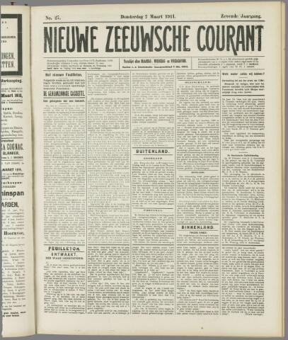 Nieuwe Zeeuwsche Courant 1911-03-02