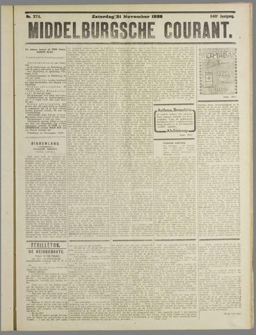Middelburgsche Courant 1925-11-21