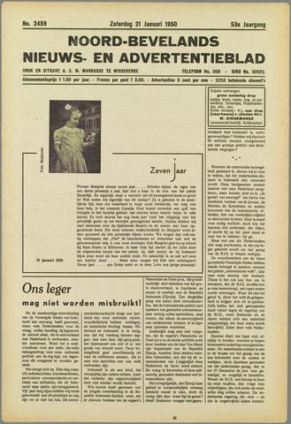 Noord-Bevelands Nieuws- en advertentieblad 1950-01-21