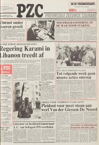 Provinciale Zeeuwse Courant 1985-04-18