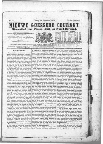 Nieuwe Goessche Courant 1870-11-11