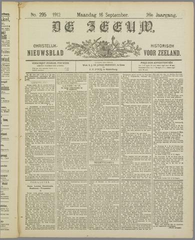 De Zeeuw. Christelijk-historisch nieuwsblad voor Zeeland 1912-09-16