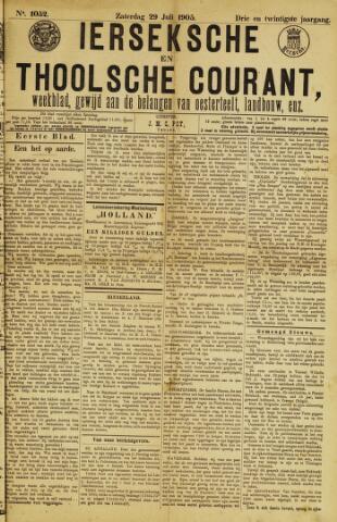 Ierseksche en Thoolsche Courant 1905-07-29