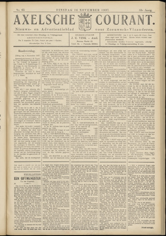 Axelsche Courant 1937-11-16