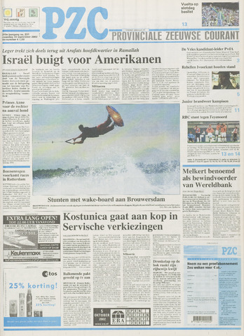 Provinciale Zeeuwse Courant 2002-09-30