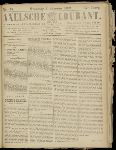 Axelsche Courant 1921-08-03